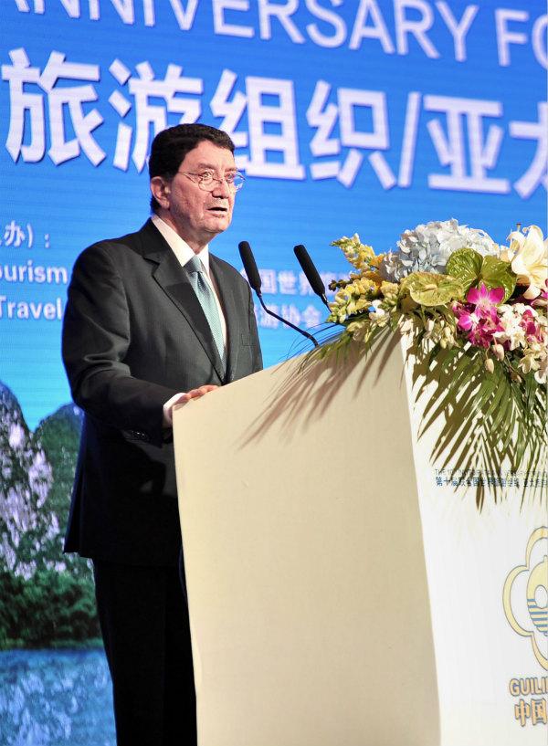 第十屆聯合國世界旅游組織-亞太旅游協會旅游趨勢與展望國際論壇聯合國世界旅游組織秘書長Taleb Rifai在開幕式上致辭_meitu_1.jpg