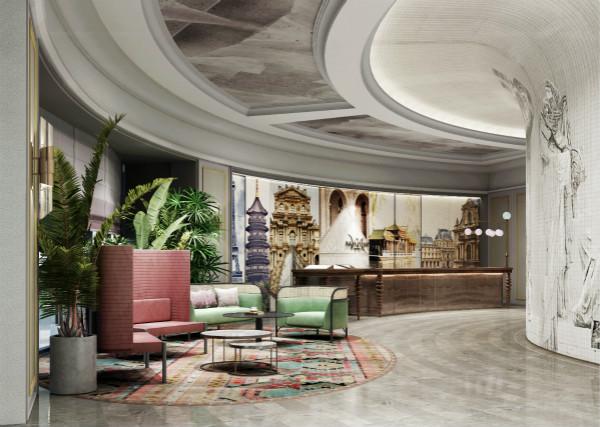 西湖美居酒店特邀著名视觉艺术家林子楠先生创作大堂巨幅壁画_meitu_1.jpg