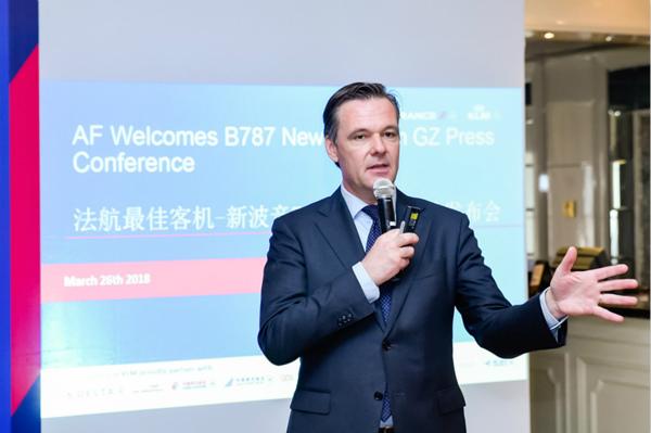 法航荷航大中国区总经理庞道安在787-9广州首航的媒体发布会上_meitu_2.jpg