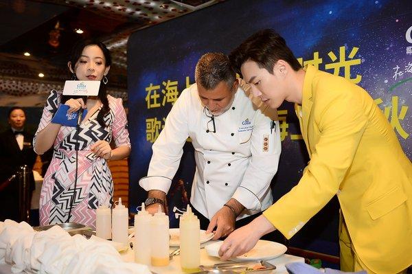 王冠逸与歌诗达邮轮行政主厨合作打造经典意大利美食