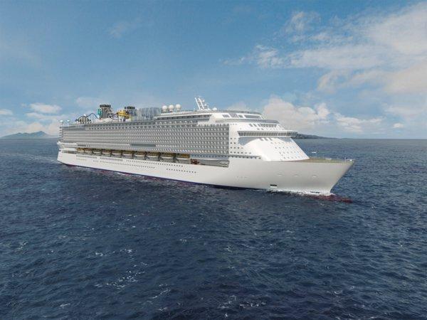 """星梦邮轮旗下专为亚洲客源市场量身定制的首艘20万吨""""环球级""""邮轮2021年初来沪,将成为以亚太区为母港的最大邮轮。"""
