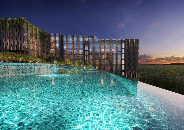 The Outpost Hotel是时尚成年人岛屿度假酒店,可以俯瞰南海