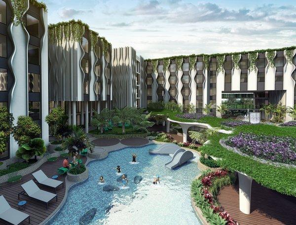 圣淘沙乡村酒店的儿童游泳池