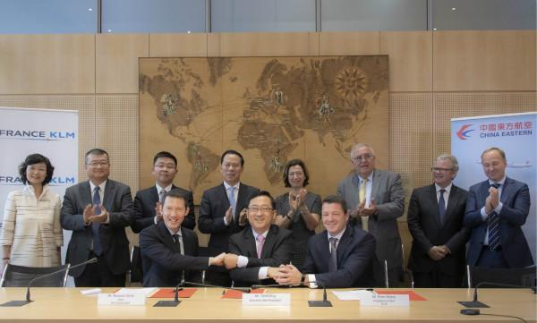 法航荷航集团与中国东方航空签署协议拓展联营合作_meitu_1.jpg