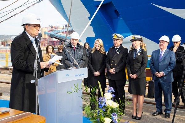 公主邮轮在意大利芬坎蒂尼造船厂举办特别庆典活动, 庆祝旗下三艘在建中的帝王级旗舰同时取得里程碑式进展