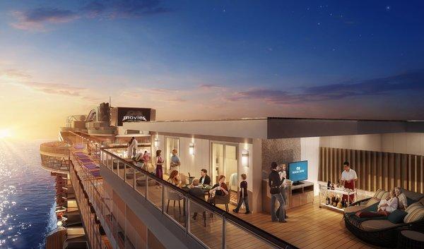 星空公主号全新推出超大海上阳台
