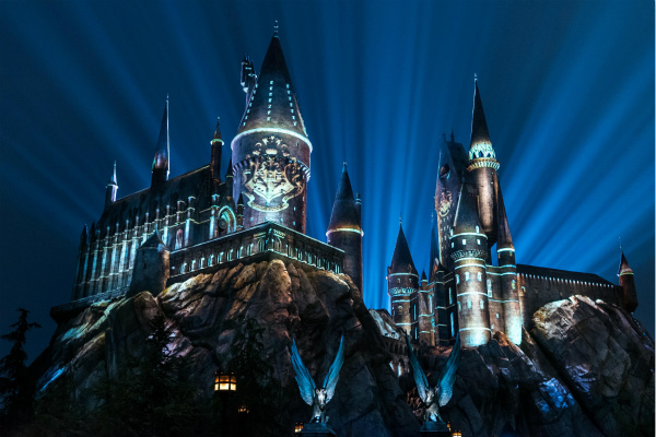 """2. 2018年好莱坞环球影城""""霍格沃茨城堡夜影声光秀"""" The Nighttime Lights at Hogwarts Castle_WWoHP at USH 2018_meitu_2.jpg"""
