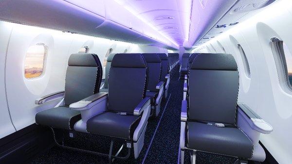 50座級三艙布局的龐巴迪CRJ550客機