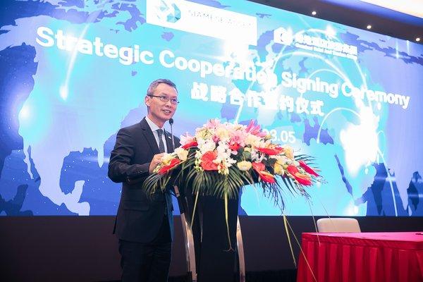 绿地酒店旅游集团总经理助理林江先生发表讲话
