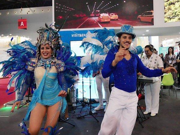 ITB China 巴西展厅热情洋溢的桑巴表演