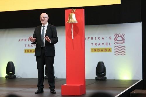 南非国家旅游部部长Derek Hanekom先生在开幕仪式上发表精彩致辞.jpg