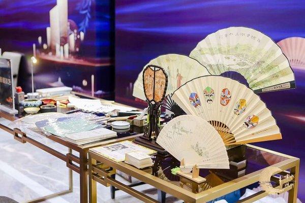 杭州新经济会议目的地北京推介会设置的杭州非遗文化展示
