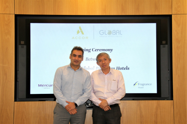 Gaurav Bhushan - Global Chief Development Officer, Accor and Dr James Koh -  Owner of Global Premium Hotels Limited 1_meitu_1.jpg