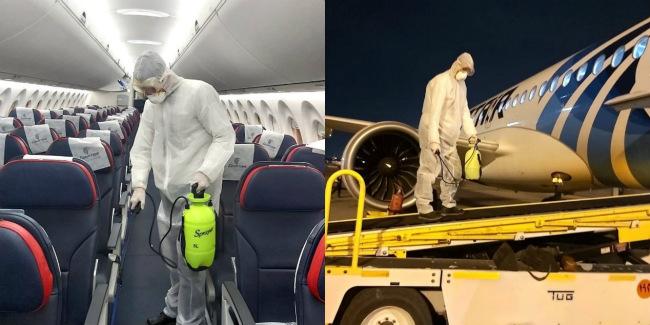 埃及航空加强客舱和机场区域清洁消毒 做好新冠肺炎疫情防控_meitu_1.jpg
