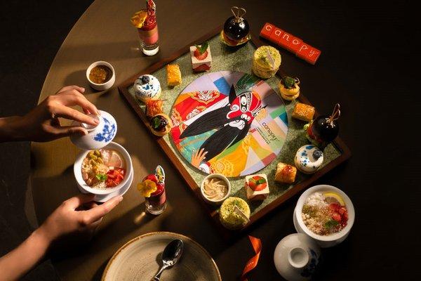 成都领地希尔顿嘉悦里酒店推出地道川剧主题下午茶套餐