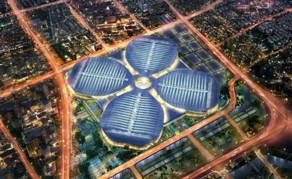 國家會展中心(上海)俯視效果圖