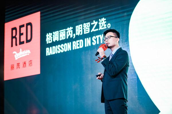 丽芮酒店(中国)总经理朱炜坚先生上台致辞,分享丽芮酒店发展目标、期待及展望