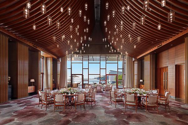 北京雁栖岛国宾别墅黄鹂居大餐室