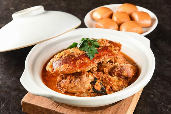 """""""辣椒法国大蟹""""配黄金小馒头spicy jumbo crab served with fried golden buns_meitu_3.jpg"""