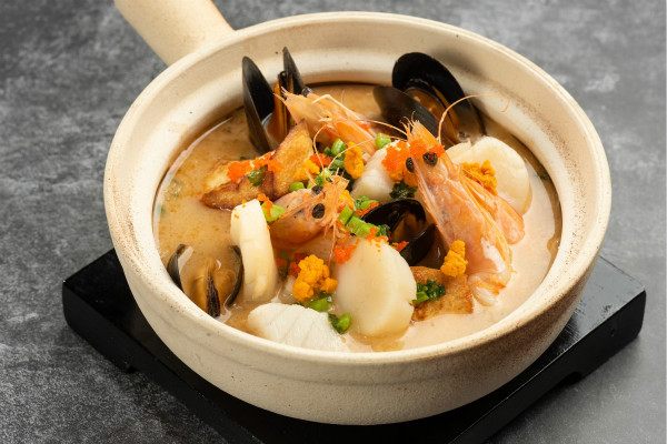 """可持续"" 海鲜菜脯豆腐煲 Braised sustainable seafood, handmade tofu, preserved green vegetables_meitu_1.jpg"