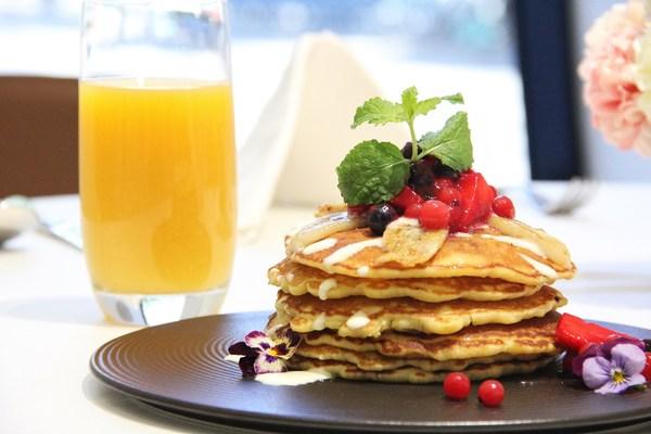 招牌早午餐:香蕉玉桂饼