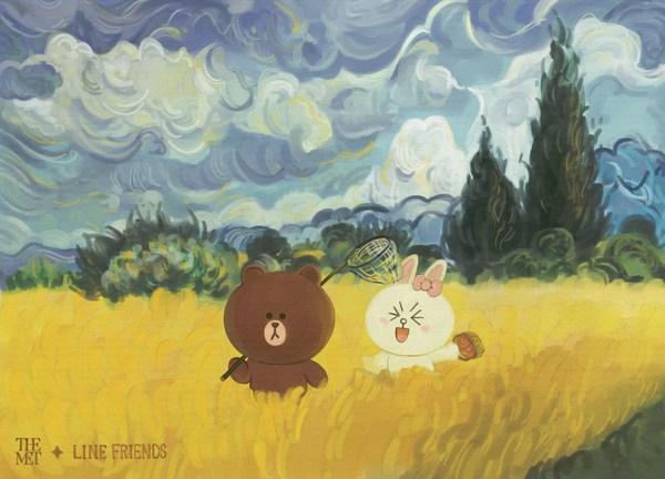 """布朗熊可妮兔探索于""""麦田与柏树"""""""