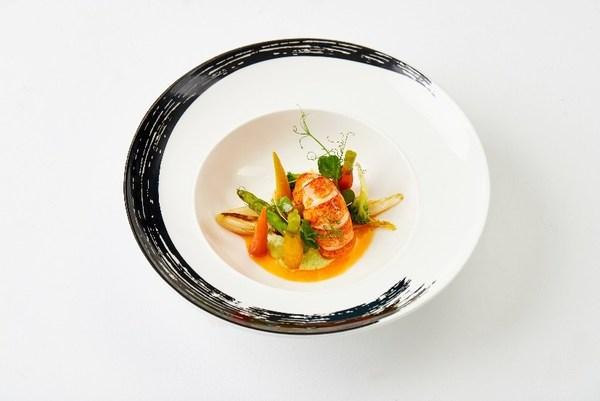 烤龙虾配青酱
