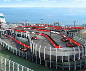 诺唯真游轮喜悦号联合法拉利 呈献首个海上卡丁车赛道
