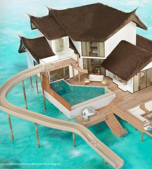 重新揭幕的马尔代夫卓美亚维塔维丽酒店 为客人打造超长水上滑梯