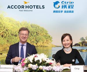 携程旅行网与雅高酒店集团签订合作备忘录 提升中国游客旅行体验