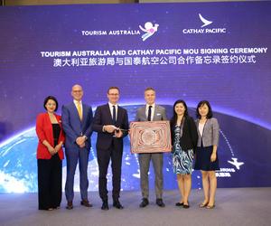 澳大利亚旅游局与国泰航空签署合作备忘录 共同开拓赴澳商旅市场