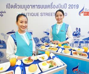 """曼谷航空推出2019年全新客艙菜單 主打""""精品街頭美食""""概念"""