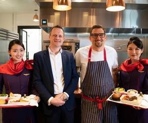 香港航空洛杉磯出發航班推出名廚設計商務艙餐單