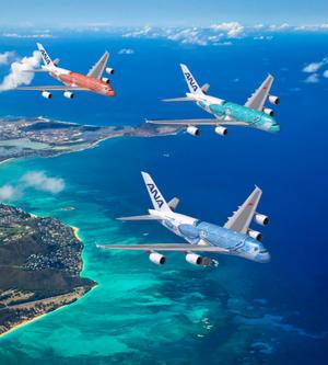 夏威夷旅游局攜手全日空推A380海龜彩繪機執飛夏威夷