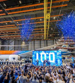 荷兰皇家航空公司100周年庆典倒计时100天活动