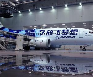 """波音中国推出""""放飞梦想""""彩绘飞机,倡导航空科普教育"""